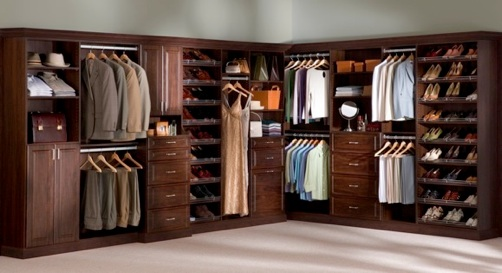 Chicagoland custom closets reach walk in - Idee de rangement pour garde robe ...